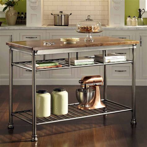 homestyles kitchen island the orleans kitchen island with two fixed shelves by home styles kitchensource