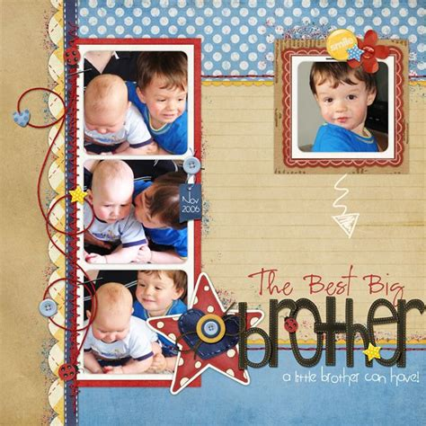 scrapbook layout for 4 photos big brother scrapbook layouts pinterest