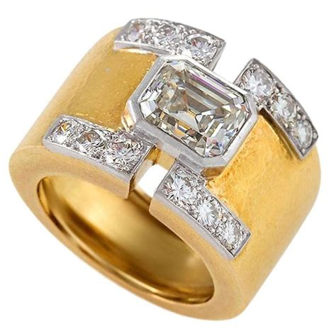 david webb mid 20th century gold and platinum ring
