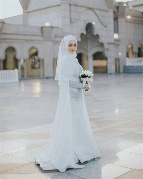Syari Bergo Line Anggun inspirasi gaun pengantin syar i yang anggun dan elegan thewedding id