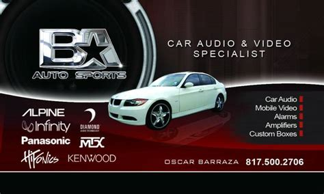 Car Audio Business Card Template by Car Audio Business Cards Choice Image Business Card Template
