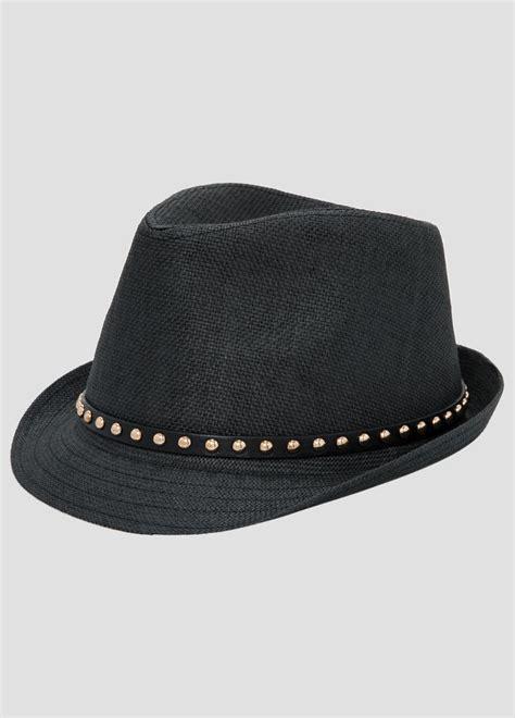 Studded Hat studded straw fedora hat plus size hats stewart 069