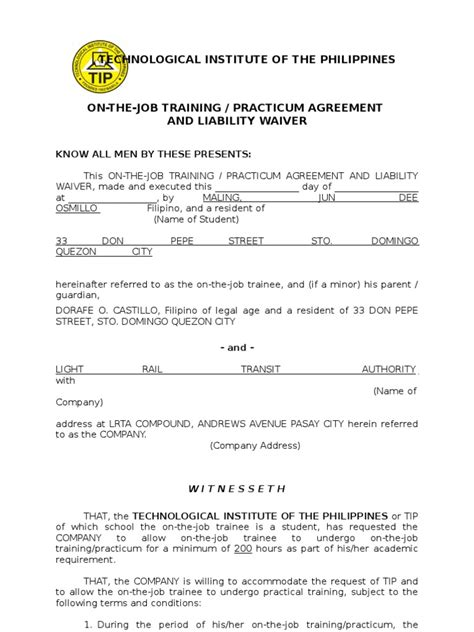 application letter for ojt in housekeeping exle of endorsement letter for ojt ojt acceptance