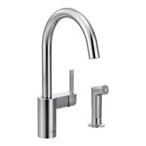 moen single handle wall mount kitchen faucet with 9 in