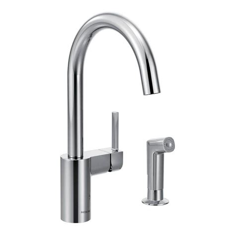 Moen Wall Mount Kitchen Faucet Moen Single Handle Wall Mount Kitchen Faucet With 9 In Spout In Chrome 8713 The Home Depot