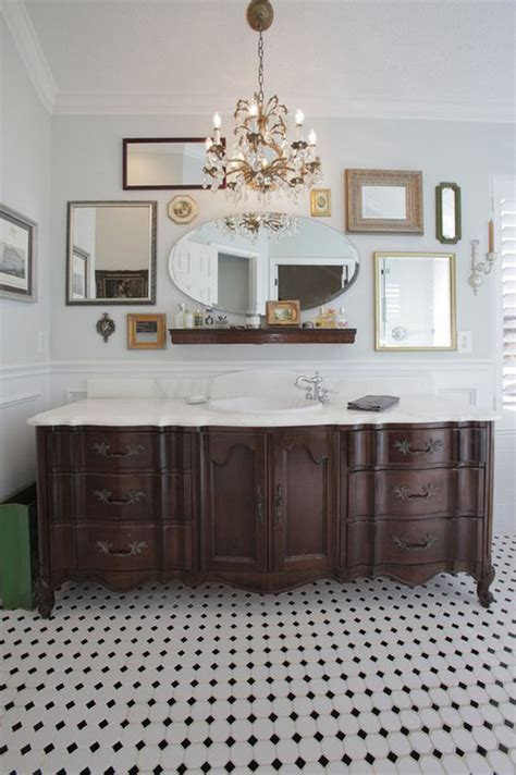 furniture turned into bathroom vanity mirror collages ideas and inspiration