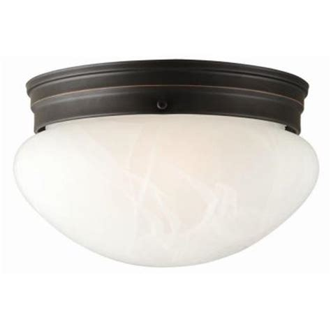 Ceiling Fixtures Home Depot by Design House Millbridge 2 Light Rubbed Bronze Ceiling