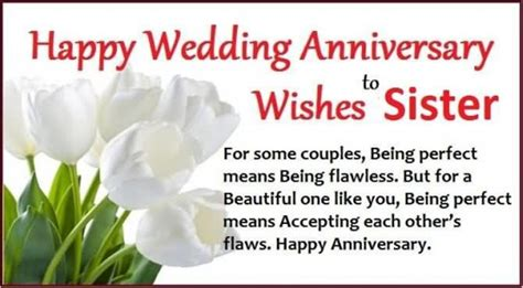 1st wedding anniversary gifts for sister anniversary wishes for sister wishes greetings