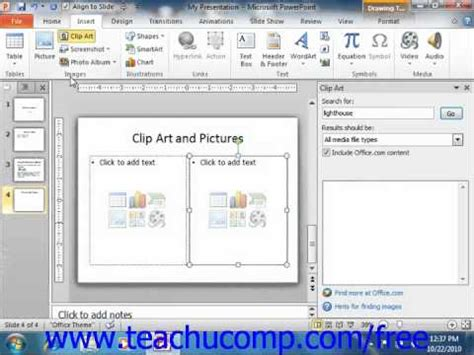 powerpoint tutorial free powerpoint 2010 tutorial inserting clip art and pictures