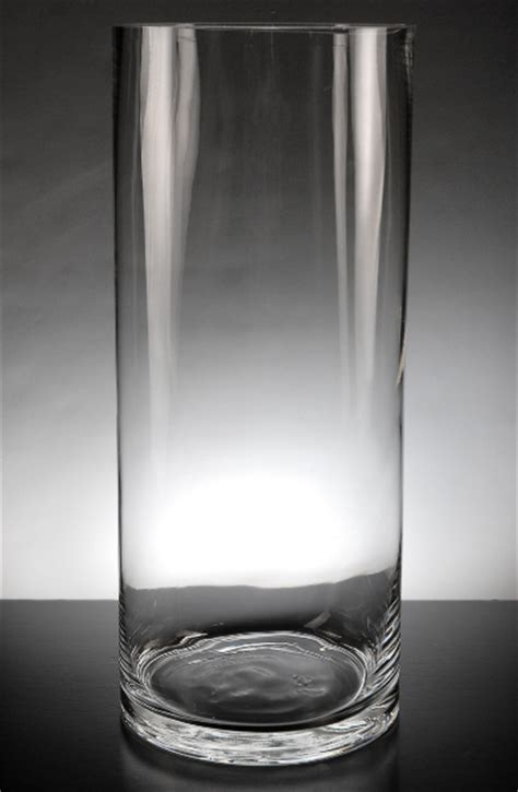 14 Inch Glass Cylinder Vase Clear Glass Cylinder Vase 14 In