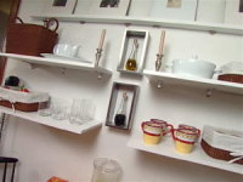 shelf ideas for kitchen clever kitchen ideas open shelves hgtv