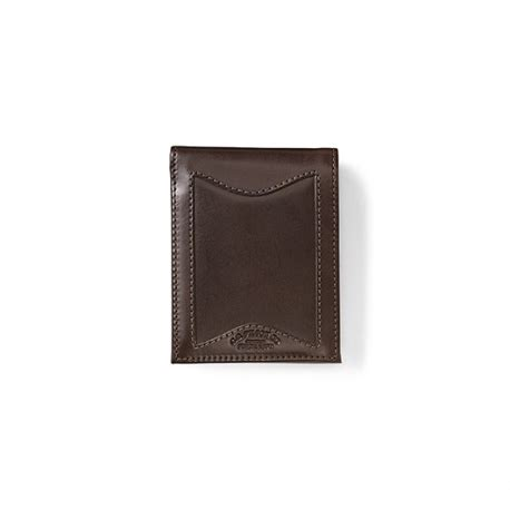 filson leather outfitter wallet meteor