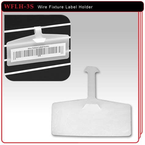 Wire Shelf Label Holders by Wire Fixture Label Holder 3 3 8 Quot H X 1 3 8 Quot H
