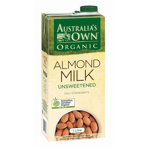Halal Almond Milk Australia Australias Own Organic Almond australia s own unsweetened almond milk 1l woolworths