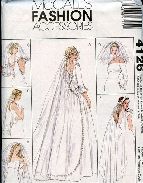 simple veil pattern wedding veil pattern 6 styles mccalls fashion by