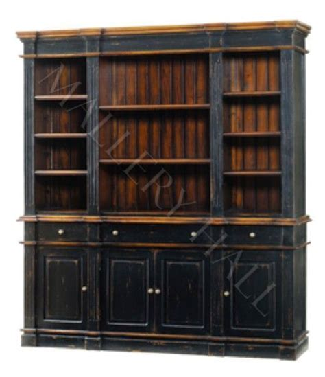 casual distressed grand library wall unit bookcase