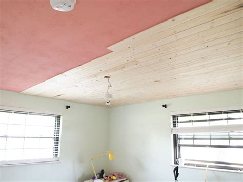 popcorn to planked ceiling progress cape 27