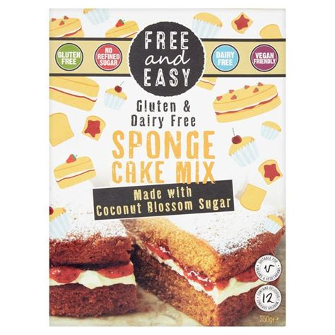 morrisons free easy gluten and dairy free sponge cake