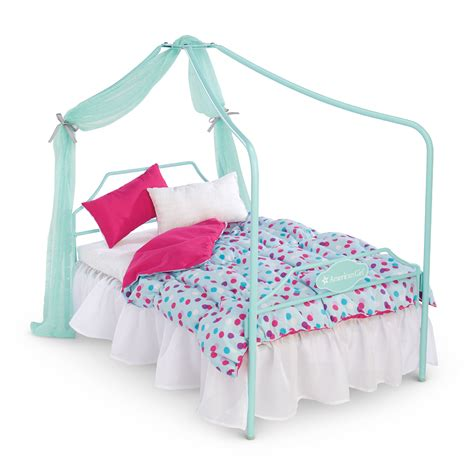 canopy bed and bedding set american girl wiki fandom