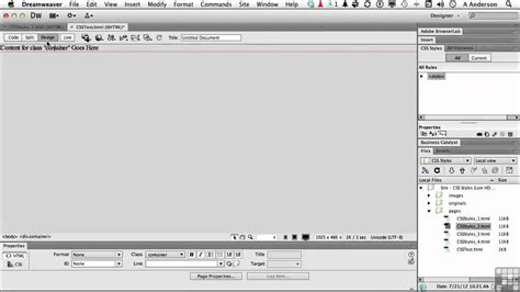 youtube tutorial dreamweaver cs6 dreamweaver cs6 tutorial working with div tags