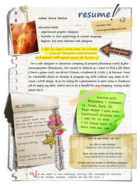 Resume About Me Creative 45 Creative Resumes To Seize Attention Hongkiat
