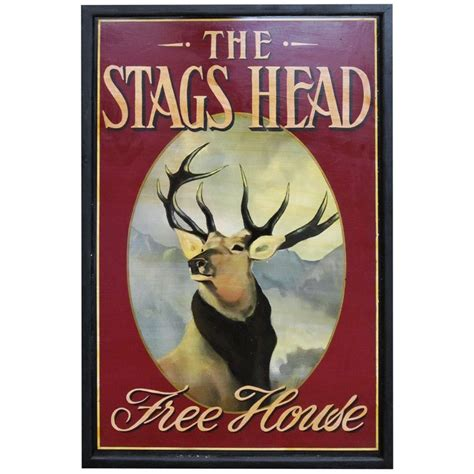 Stag Head Home Decor by English Pub Sign The Stags Head Free House At 1stdibs