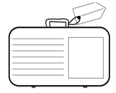 blank suitcase template in my classroom the forest and the trees classroom