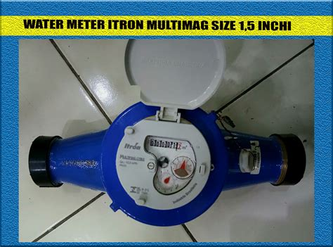 Water Meter Itron Meteran Woltex jual itron water meter dn 40 mm multimag flow meter air