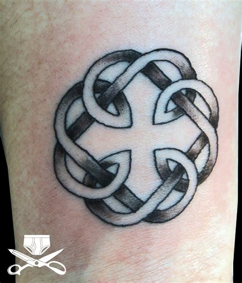 father and daughter tattoos the celtic symbol for and