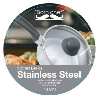 Panci Born Chef 18cm Stailess Steel Sauce Pan cv almas
