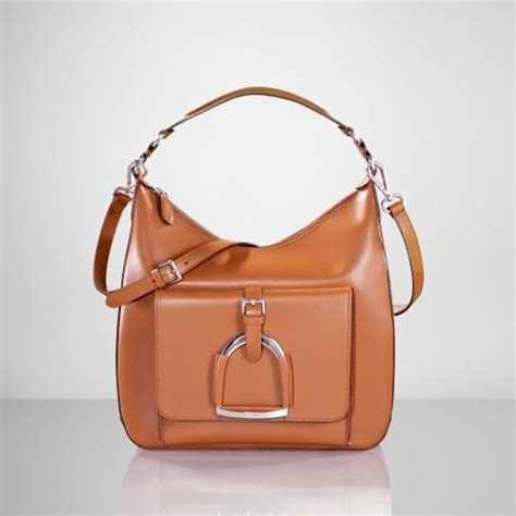 Dkny Equestrian Hobo by Ralph Equestrian Leather Hobo In Brown Rl Gold