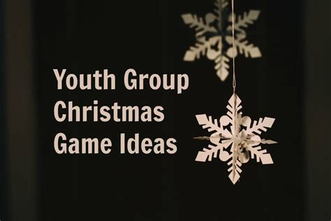 creative youth group games for christmas