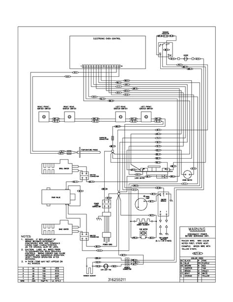 range wiring diagram frigidaire plgf389ccb gas range timer stove clocks and