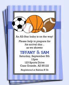 all sports invitation printable or printed with free