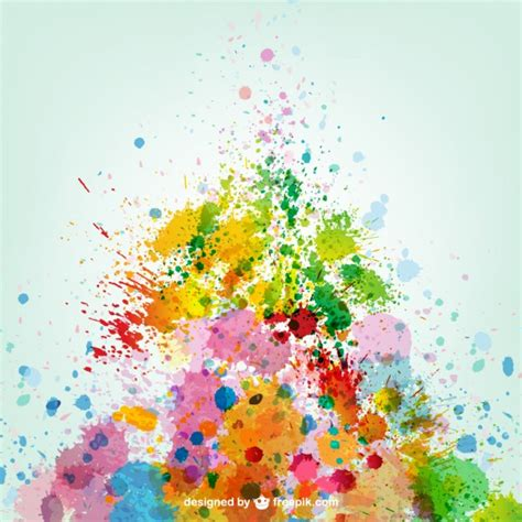 paint colorful colorful paint splashes vector free