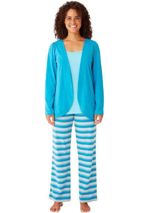 Cotton Pajamas Size 3 by S Plus Size 3 Pc Cotton Knit Pajamas