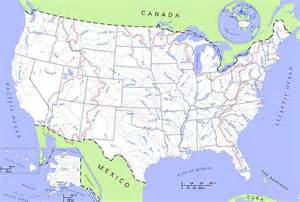 us map with rivers only vandl 248 b i usa den frie encyklop 230 di