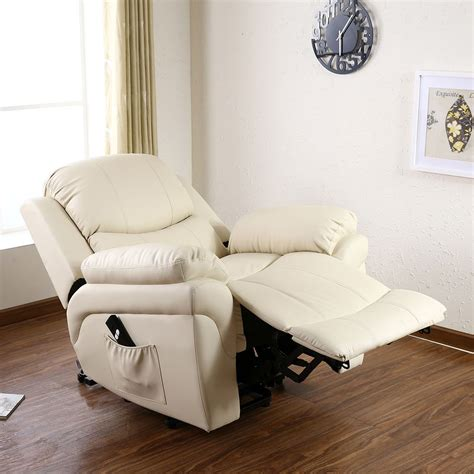 Sofas Armchairs And Suites by Elecrtic Rise Recliner Real Leather Armchair Sofa Home Lounge Chair Ebay