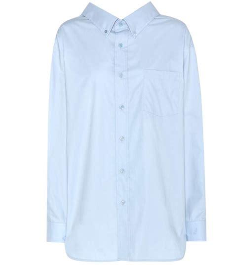 swing shirt balenciaga swing collar cotton shirt mytheresa com