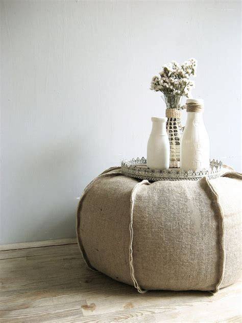 canapé ottoman 8 ways you can incorporate burlap into your decor for a