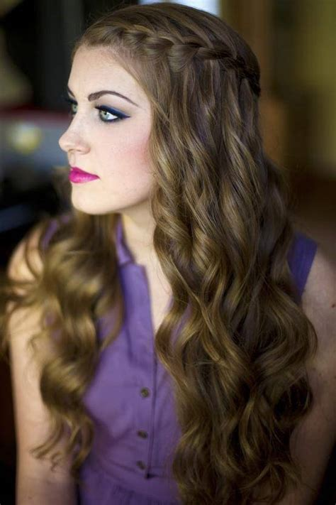 wavy braids hairstyle curly hairstyles with braids for women s fave hairstyles