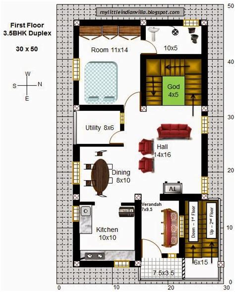 house design 30x50 site my little indian villa 43 r36 3 5bhk duplex in 30x50