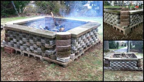 build a pit from cement landscape blocks diy - Build A Pit With Landscape Blocks