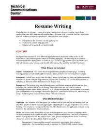Writing A Resume For A by Make Resume