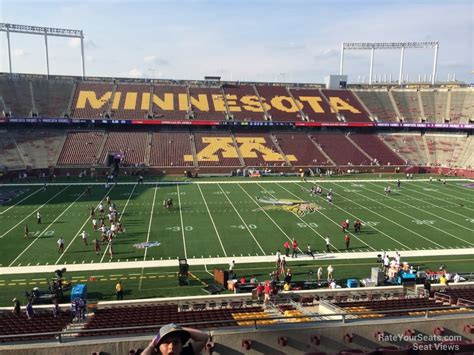 bank sections tcf bank stadium section 242 minnesota football