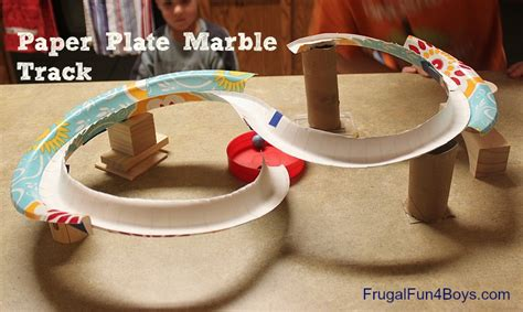 How To Make A Paper Roller Coaster Track - paper plate marble track frugal for boys and
