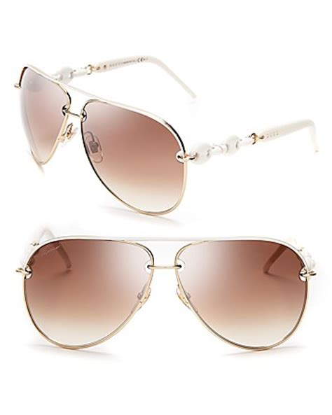 aviator sunglasses without top bar gucci aviator gold white sunglasses with top bar www