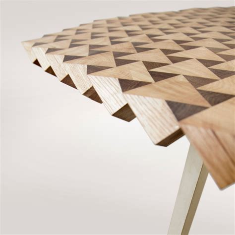 Dining Table Shapes Atlas Table In Geometric Wood By Fundamental Homeli