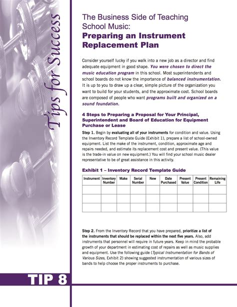 equipment replacement plan template image collections