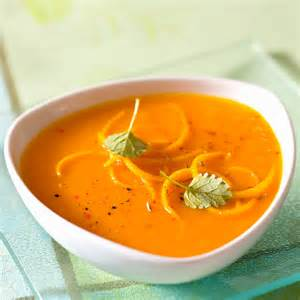 veloute carottes potimarron poivrons